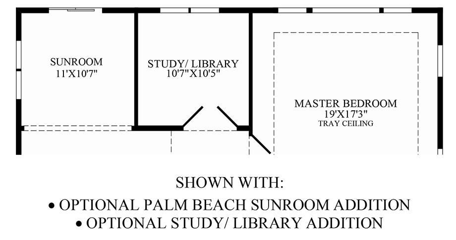 Optional Palm Beach Sunroom/Study Floor Plan