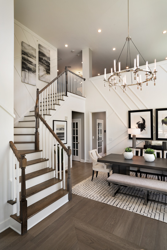Foyer and formal dining room