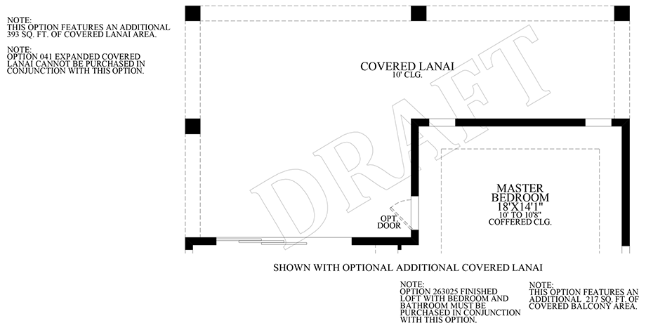 Optional Additional Covered Lanai Floor Plan