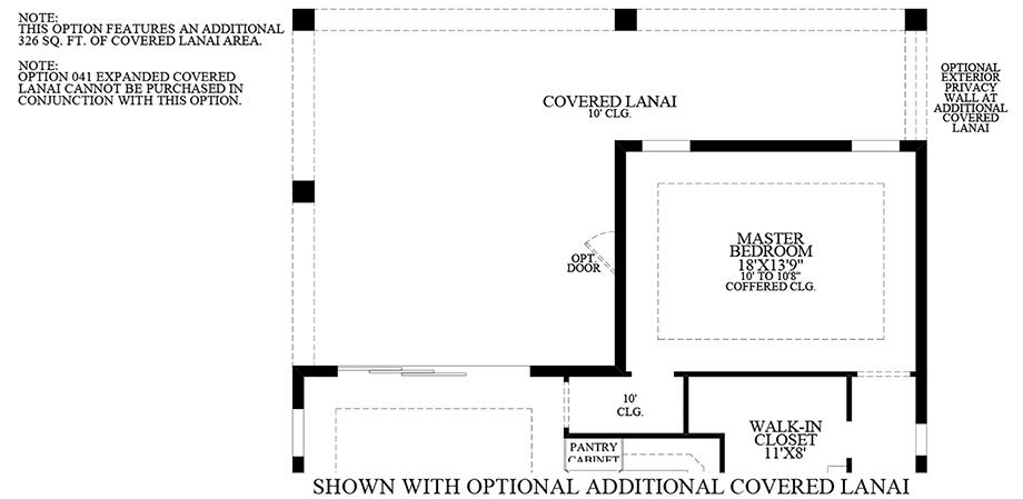 Optional Additional Covered Lanai Floor Plan