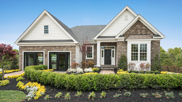 Image of the Bayhill home design with stone finish located in the Regency at Monroe Community