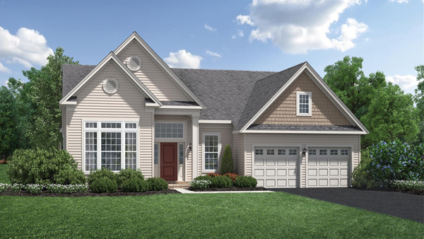 Image of the Bayhill home design with tan siding located in the Regency at Monroe Community