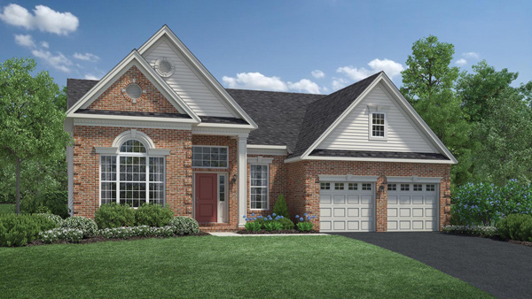 Image of the Bayhill home design with tan brick finish located in the Regency at Monroe Community