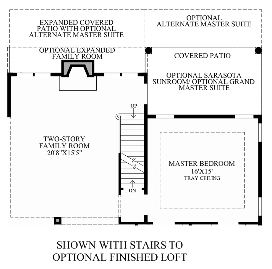 Stairs to Optional Finished Loft Floor Plan