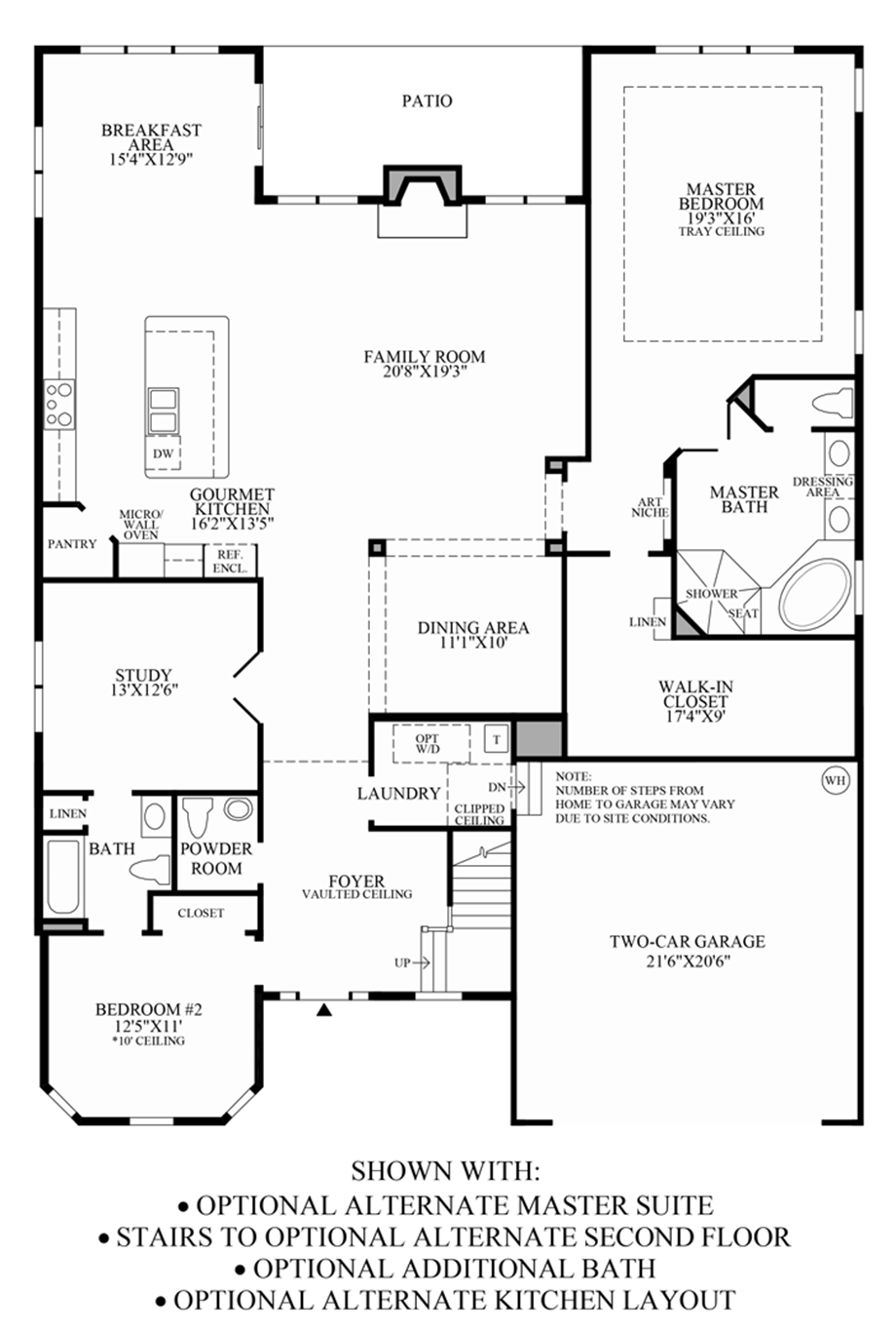 1st Floor Options Floor Plan
