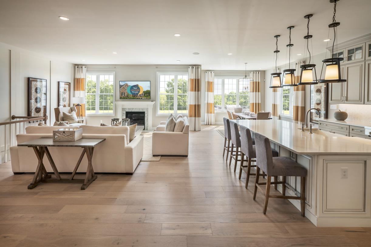Open-concept floor plan makes entertaining a breeze