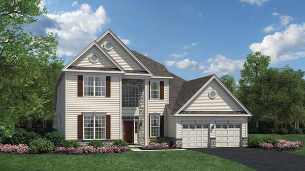 Image of the Baymont home design with white siding located in the Regency at Monroe Community