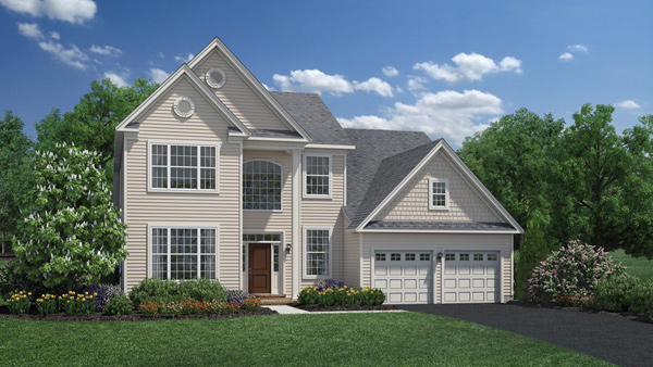 Image of the Baymont home design with tan siding located in the Regency at Monroe Community