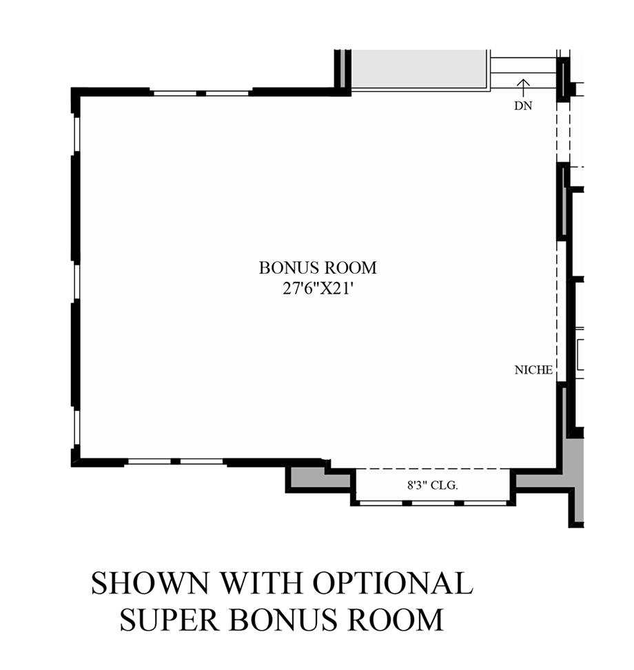 Optional Super Bonus Room Floor Plan