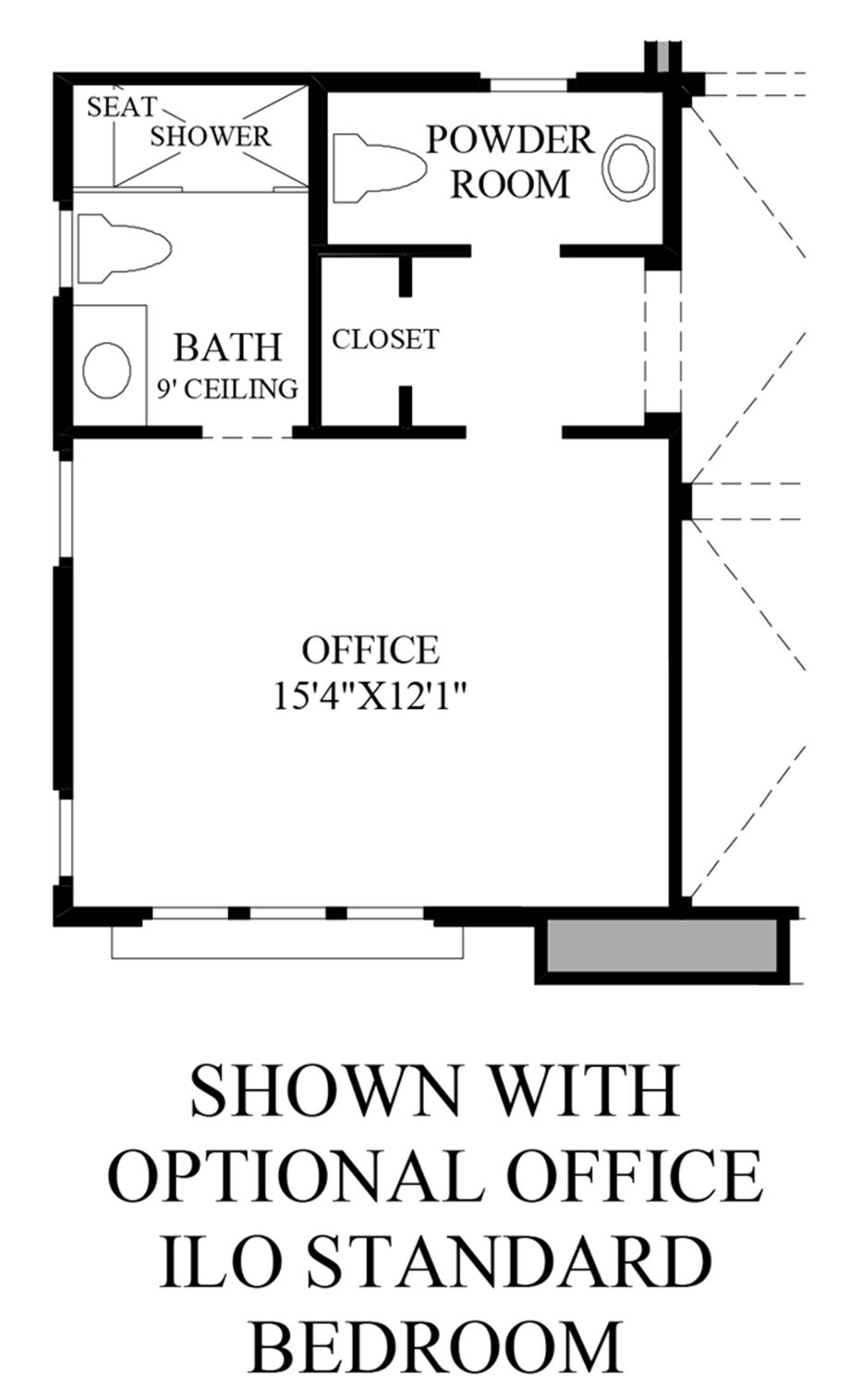 Optional Office ILO Standard Bedroom Floor Plan