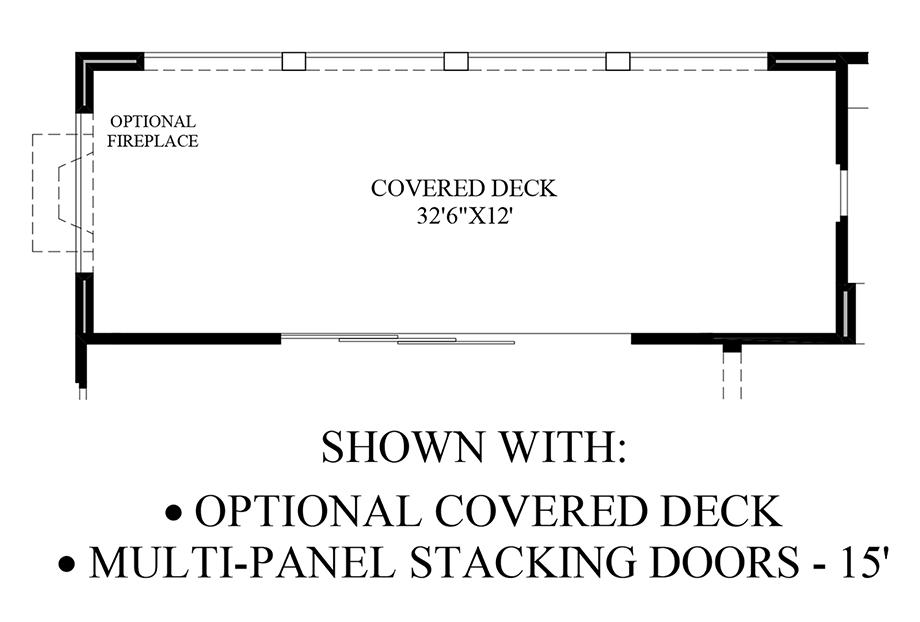 Optional Covered Deck & Multi-Panel Stacking Doors Floor Plan