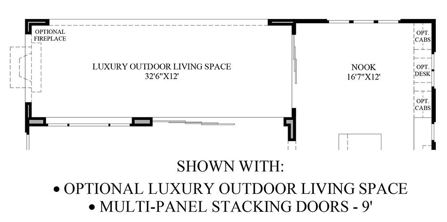 Optional Luxury Outdoor Living Space & Multi-Panel Stacking Doors Floor Plan