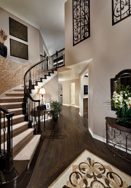 The highlands at parker the bella home design for Ranch home entryway design ideas