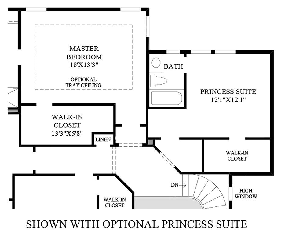 Optional Princess Suite Floor Plan