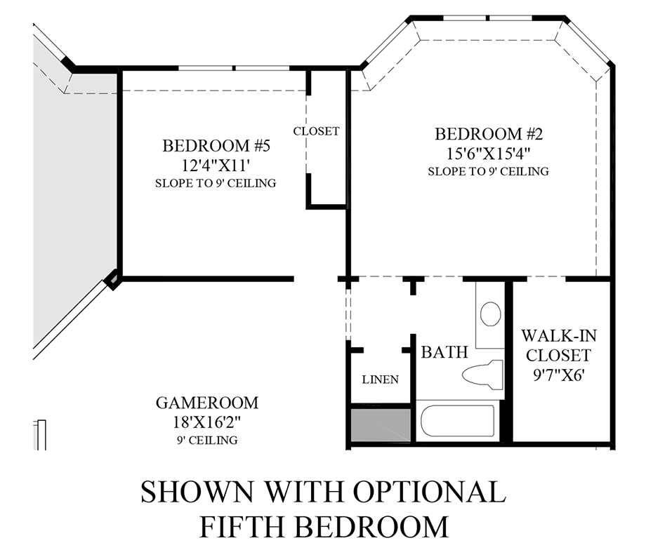 Optional 5th Bedroom Floor Plan