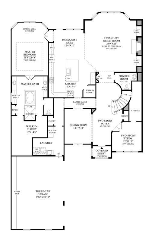 First texas homes renaissance floor plan for Floor plans texas