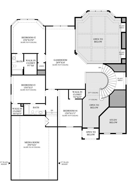 First texas homes renaissance floor plan for Texas home builders floor plans
