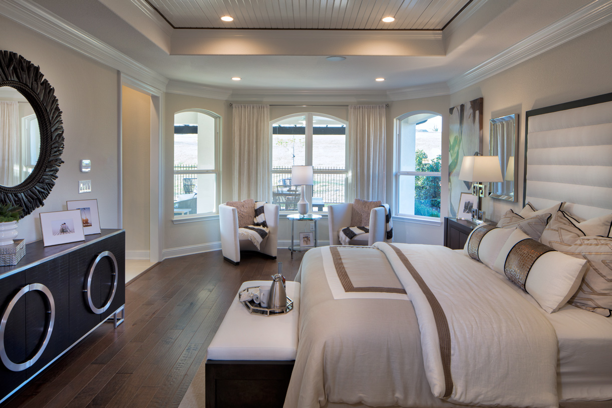 Primary bedroom suite offers luxurious respite