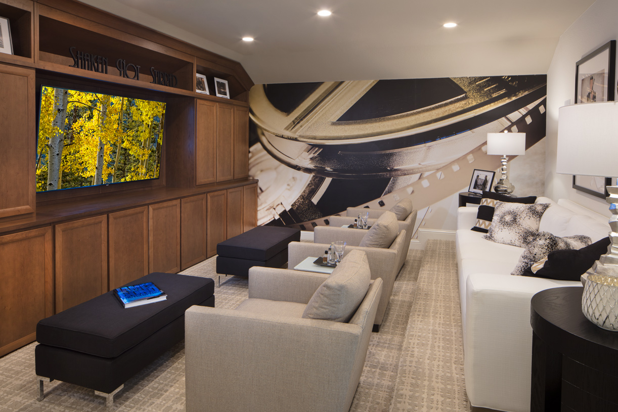 Optional media room gives you more room to entertain