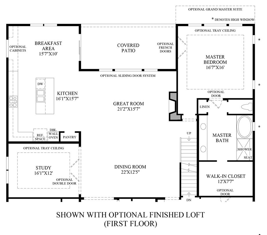 Optional Finished Loft (1st Floor) Floor Plan