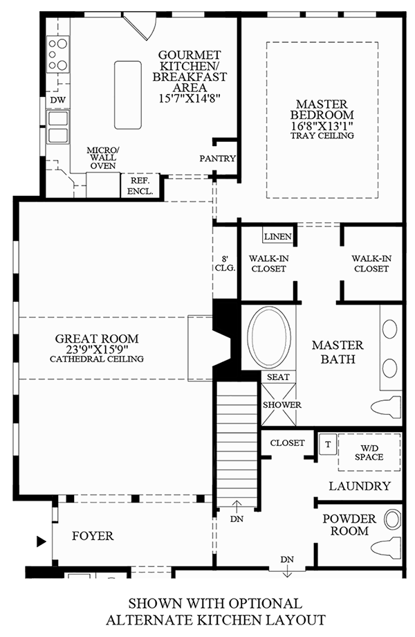 Optional Alternate Kitchen Layout