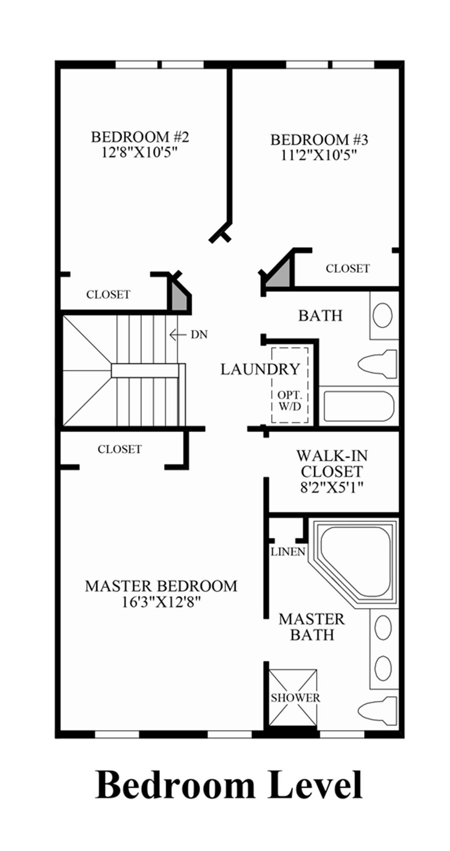 Bedroom Level Floor Plan