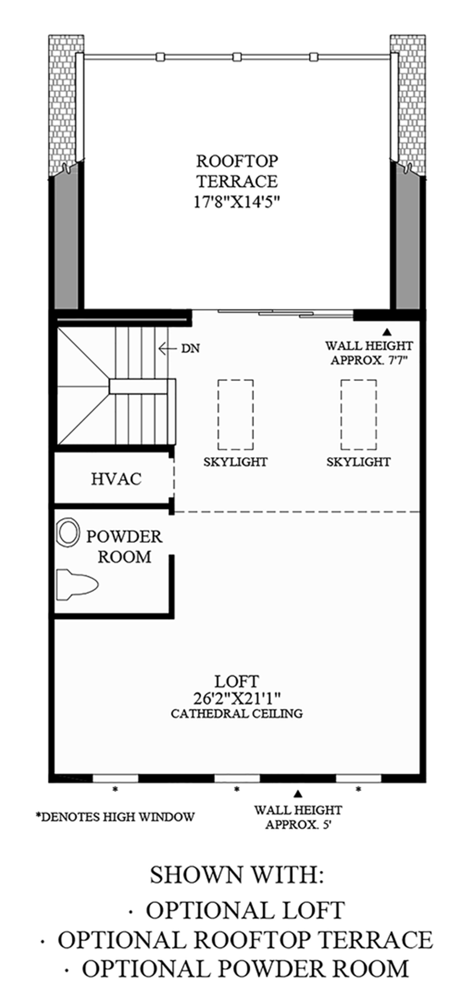 Optional Loft/Rooftop Terrace Floor Plan