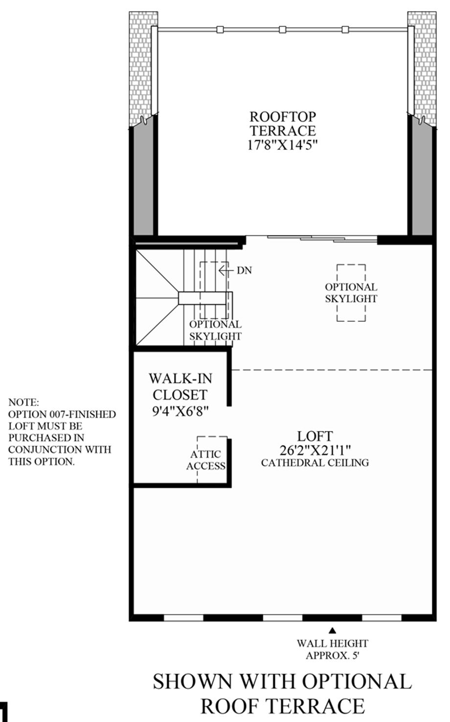 Optional Roof Terrace Floor Plan