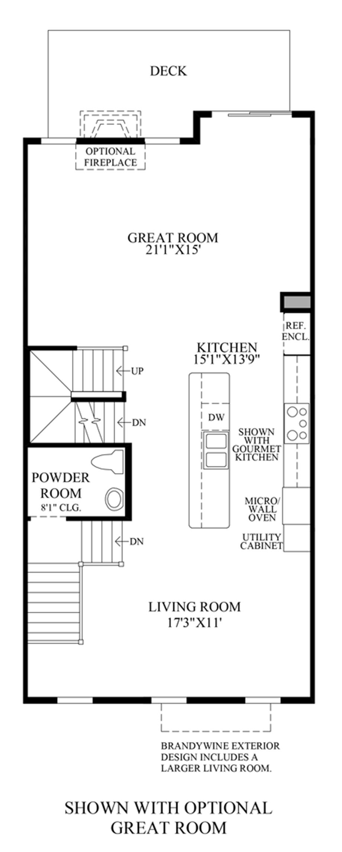 Optional Great Room Floor Plan