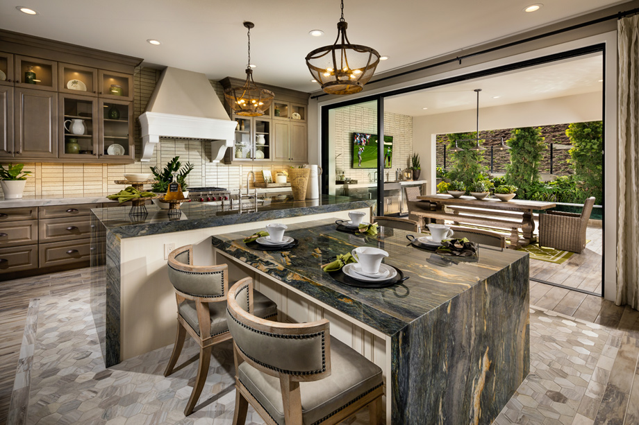 kitchen with island irvine ca new construction homes solano at altair 10658