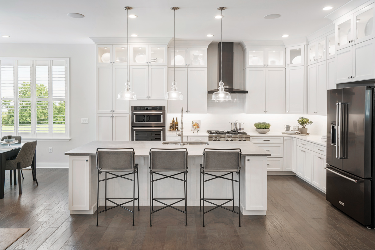 State-of-the-art kitchen with center island