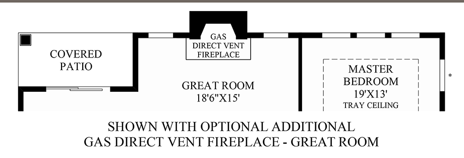 Optional Additional Gas Direct Vent Fireplace - Great Room Floor Plan