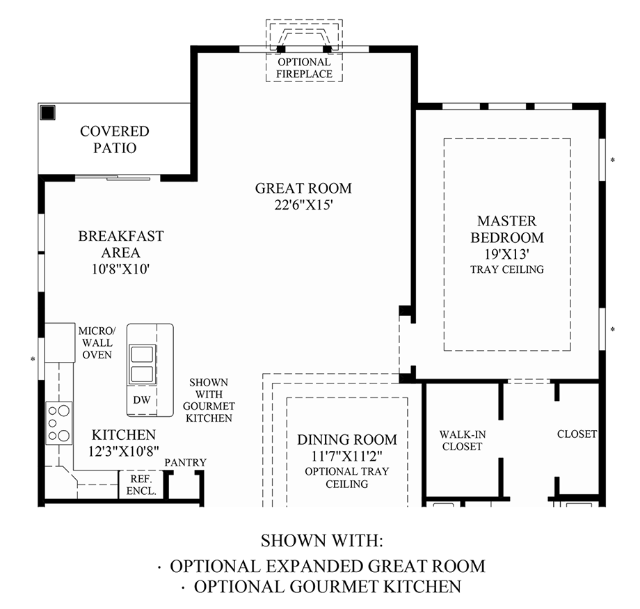 Optional Expanded Great Room & Gourmet Kitchen Floor Plan