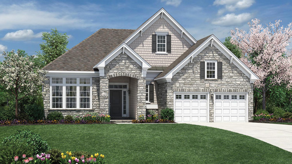 Image of the Bowan home design with stone finish located in the Regency at Monroe Community