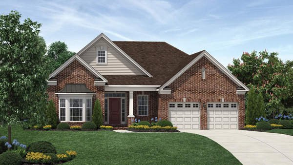 Image of the Bowan home design with brick finish located in the Regency at Monroe Community