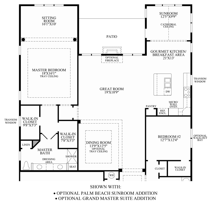 sunroom floor plans regency at the bridleridge home design 15088