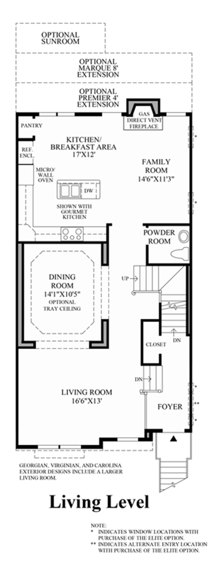 Living Level Floor Plan