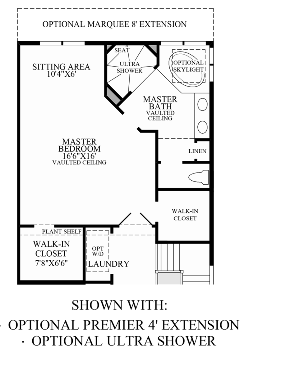 Optional Alternative Master Bedroom Floor Plan