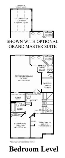 Bradbury - Bedroom Level (Living Level Entry)
