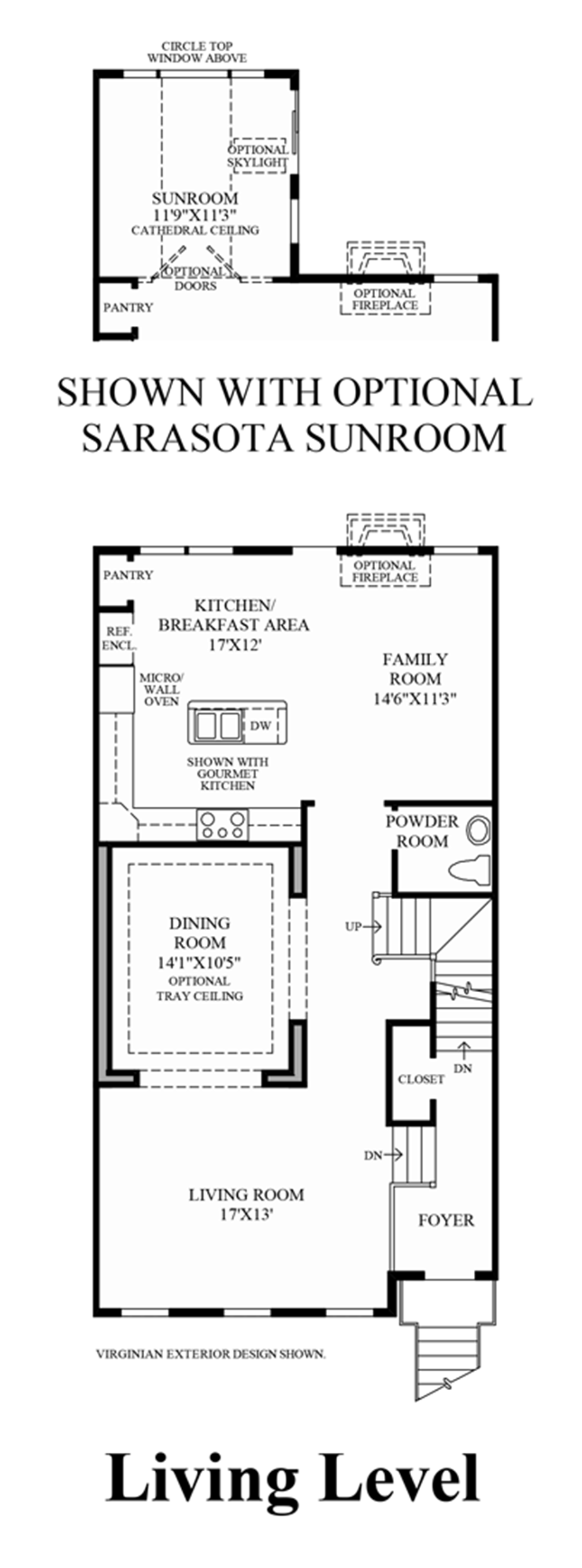 Living Level (Living Level Entry) Floor Plan