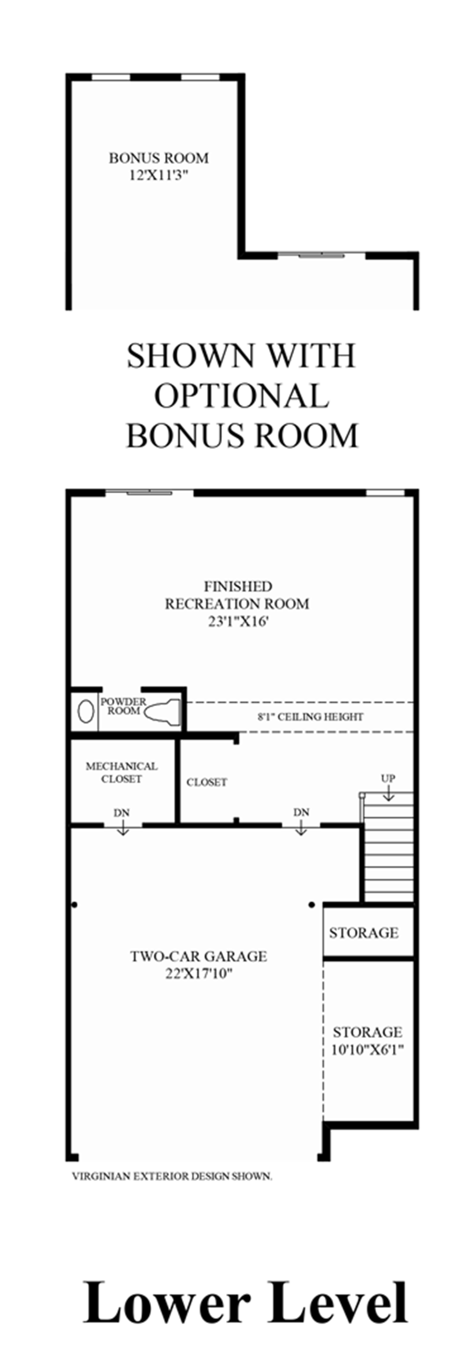 Lower Level (Living Level Entry) Floor Plan