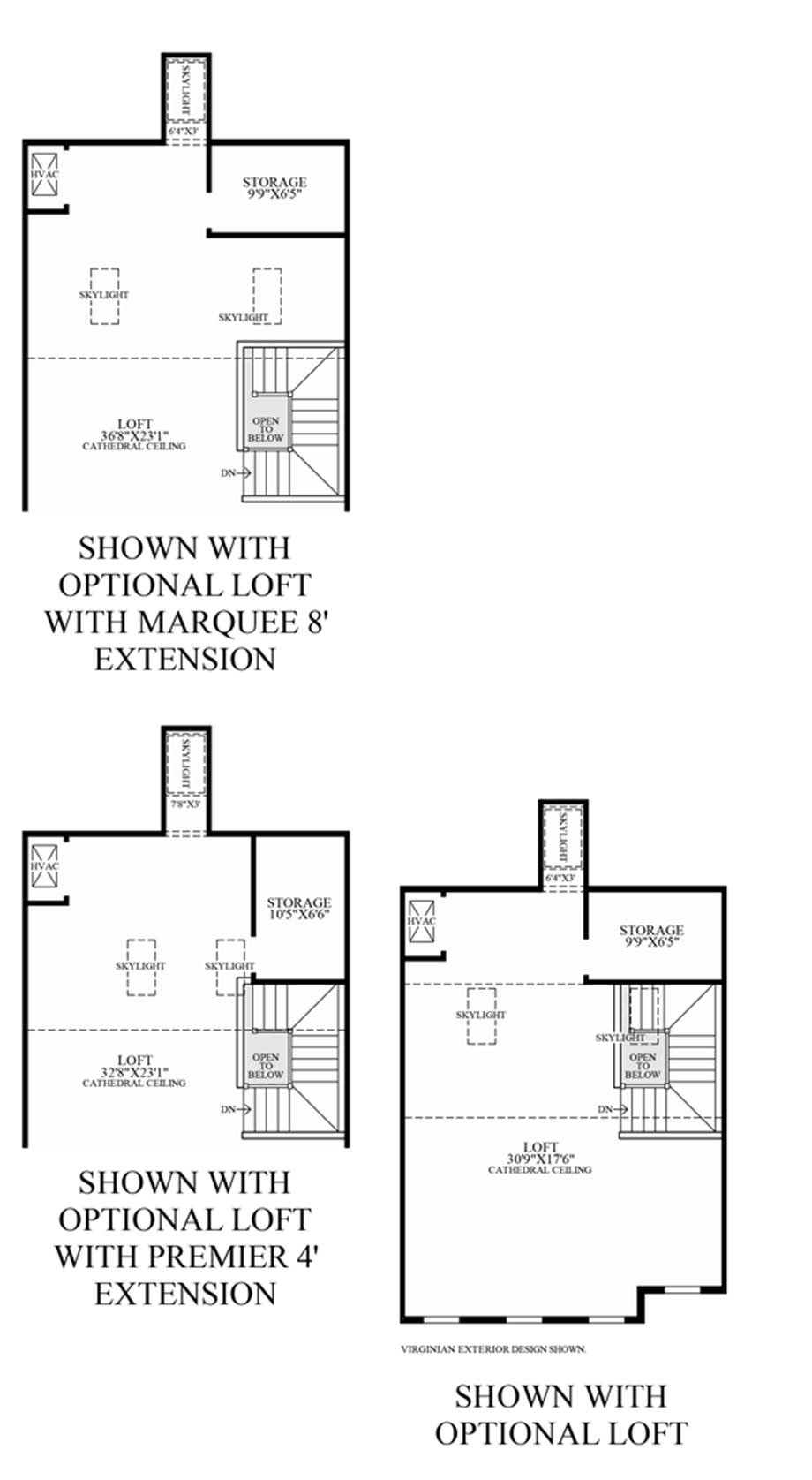 Optional Loft Floor Plan