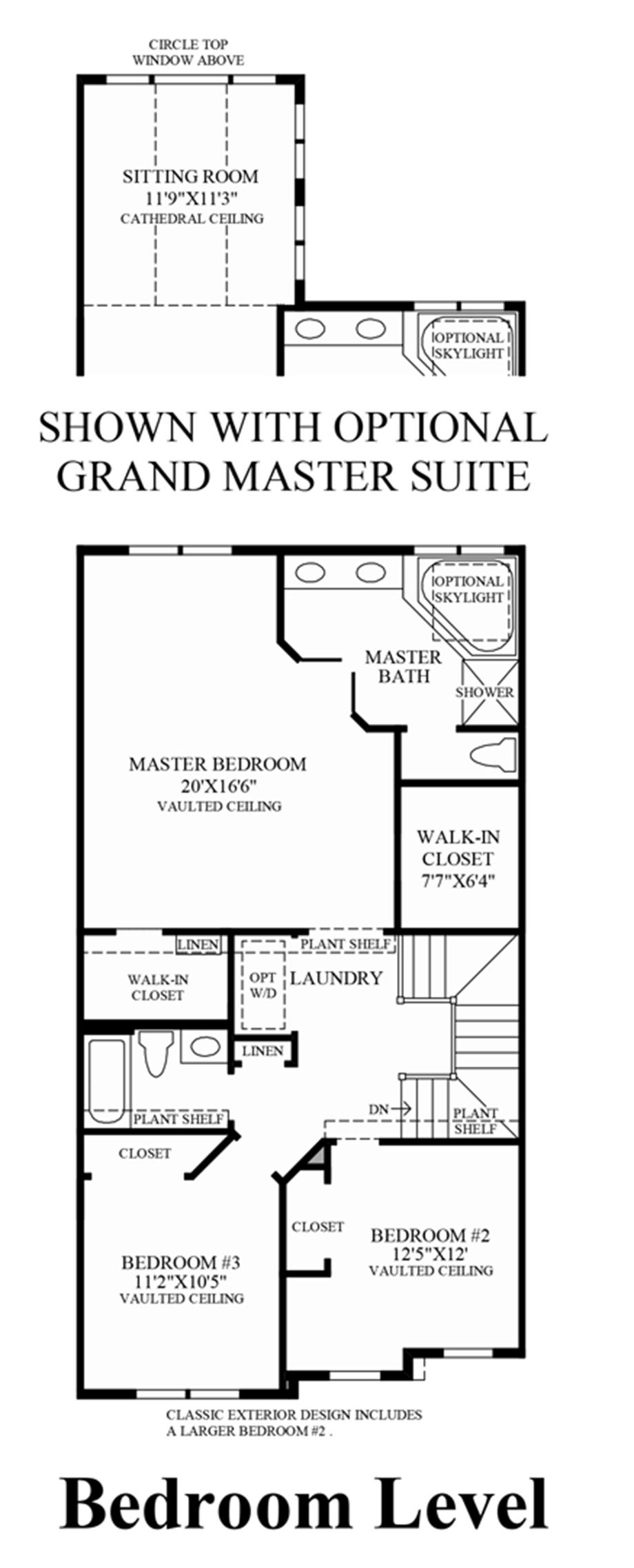 Bedroom Level (Lower Level Entry) Floor Plan