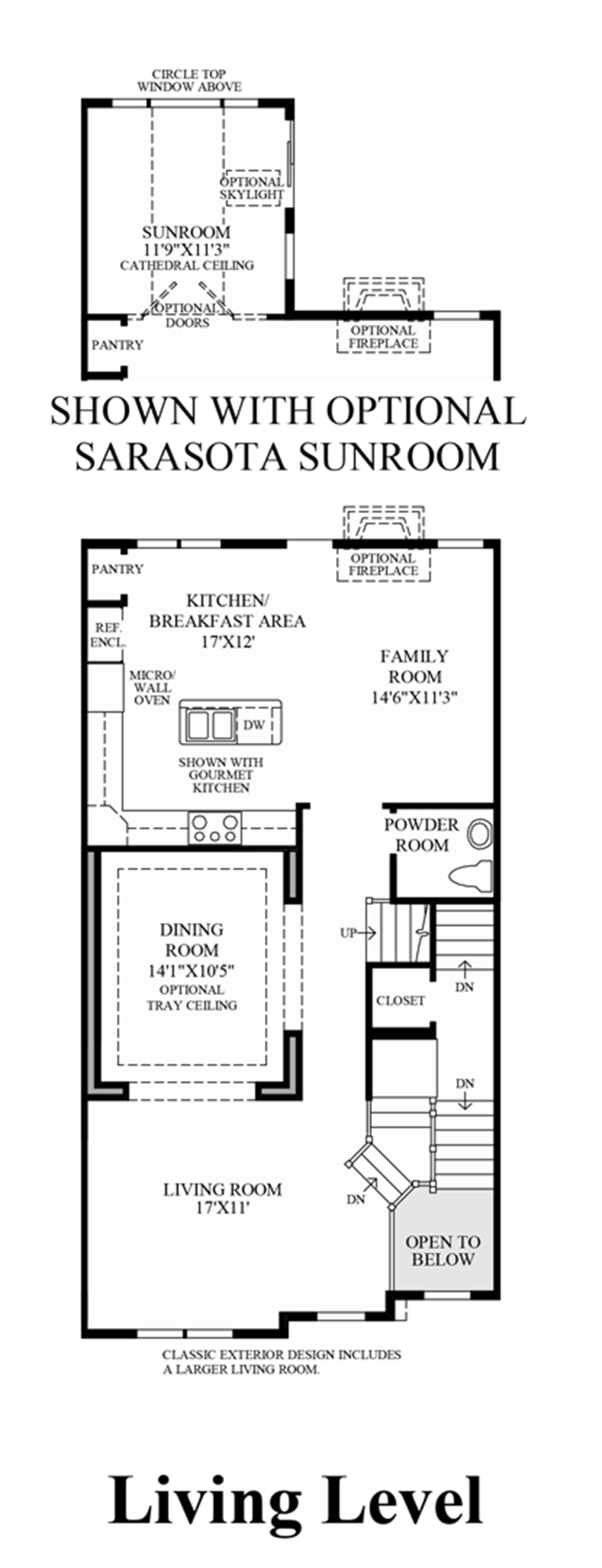 Living Level (Lower Level Entry) Floor Plan