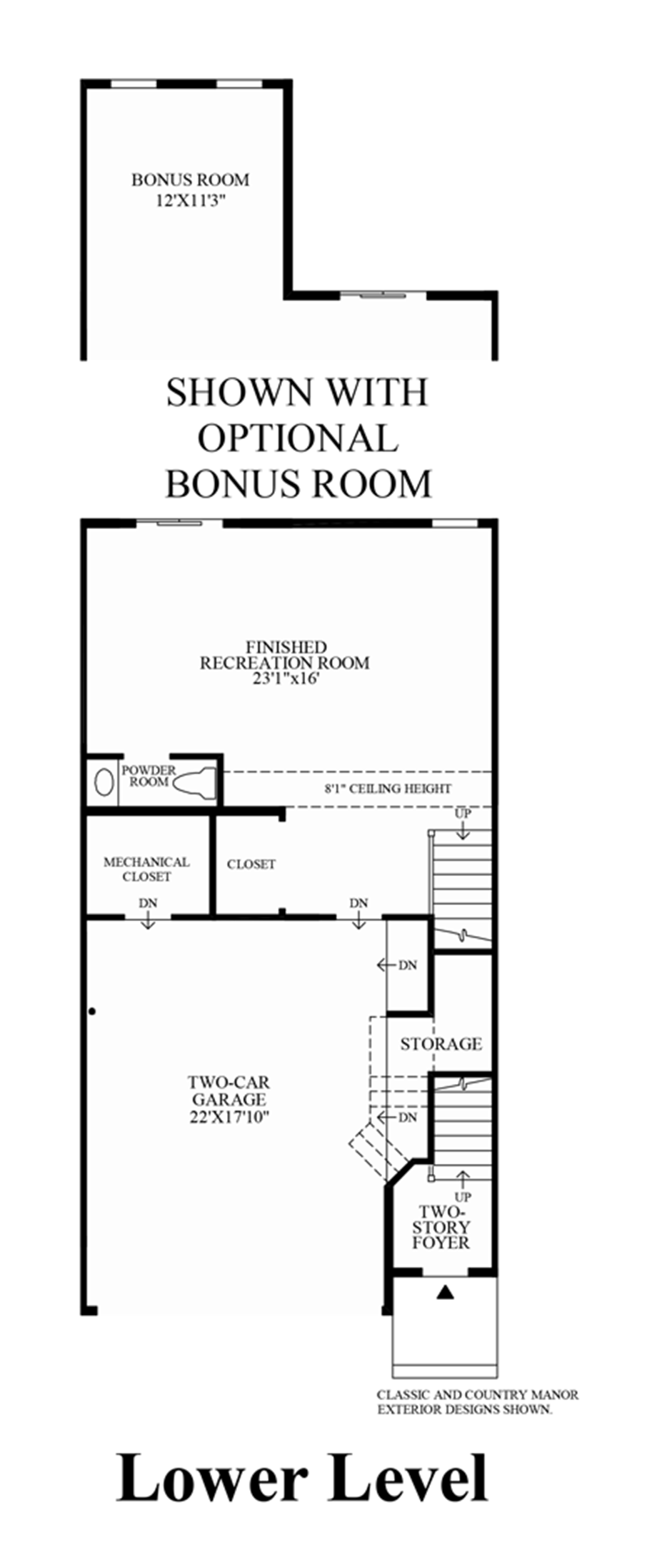 Lower Level (Lower Level Entry) Floor Plan