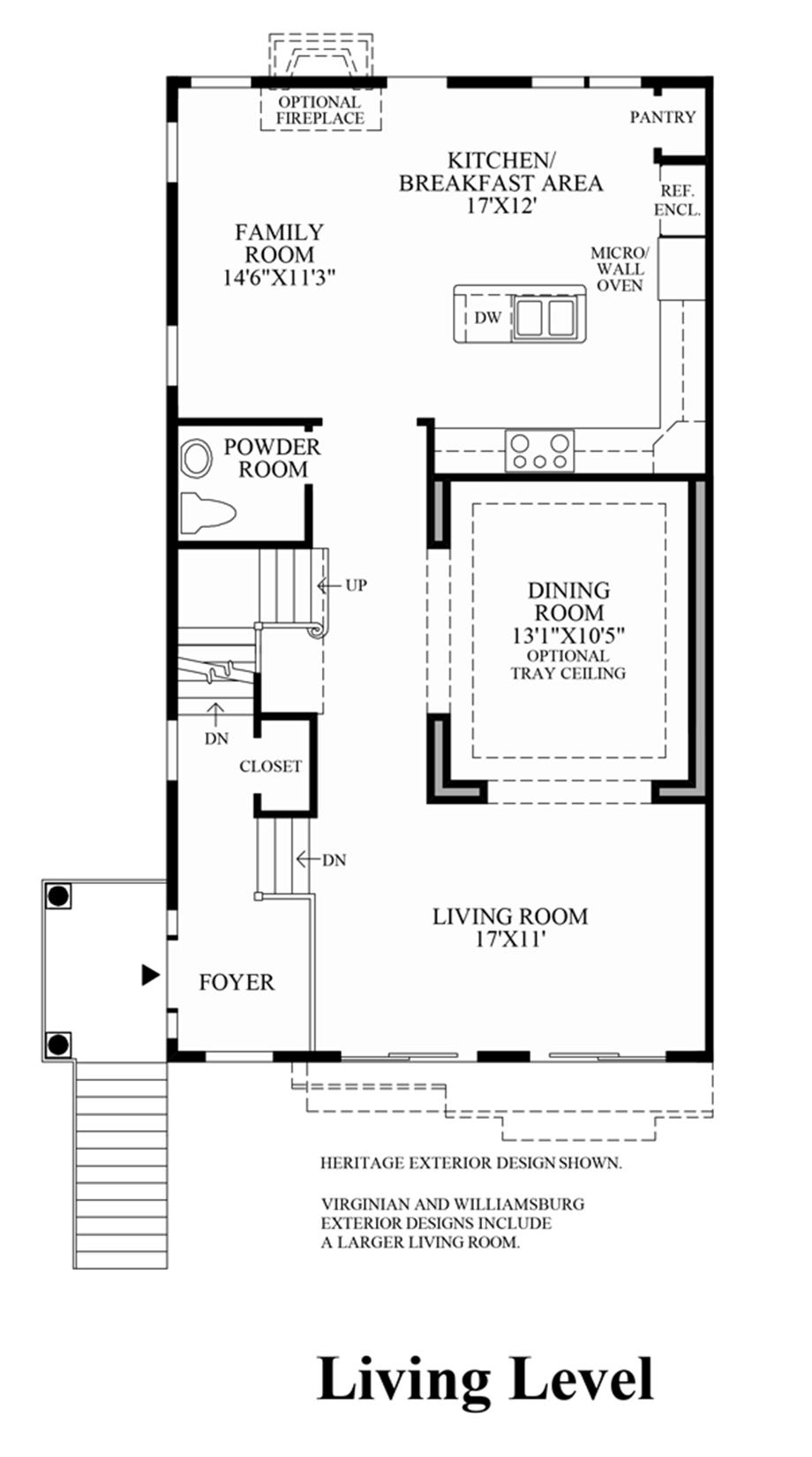 Living Level (Living Level Entry) Floor Plan