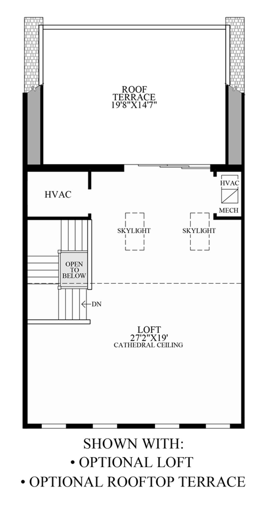 Optional Loft/Rooftop Terrace Floor Plan