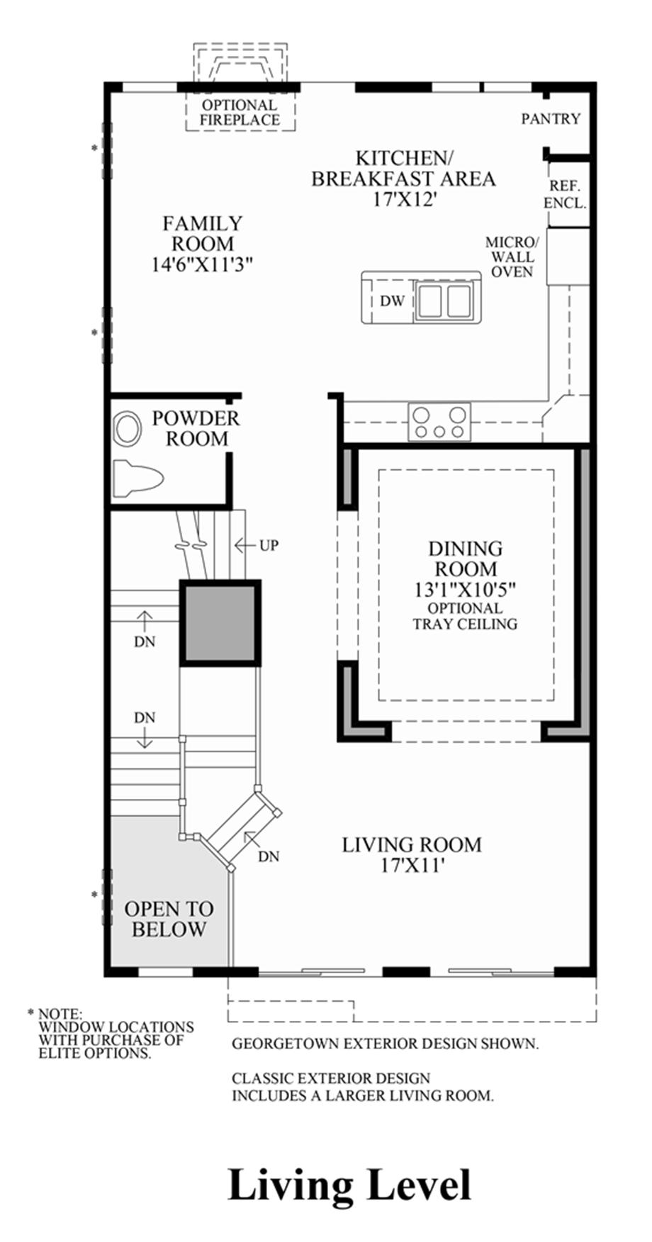 Living Level (Lower Level Entry) Floor Plan