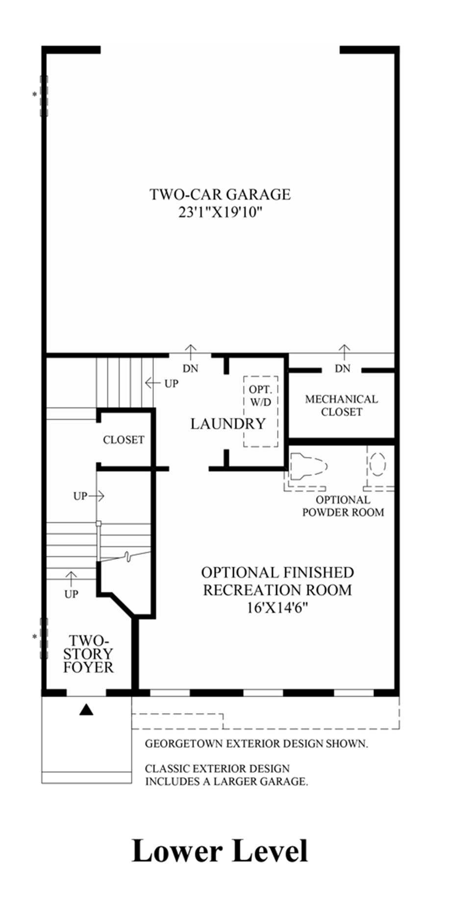 Lower Level (Lower Level Entry) Floor Plan