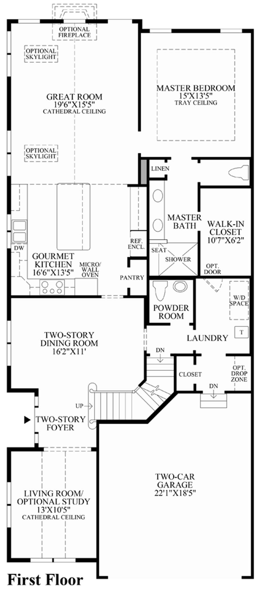 1st floor floor plan - Lake Ridge Beazer Homes Floor Plans